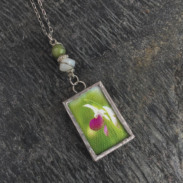 Lady's Slipper Necklace