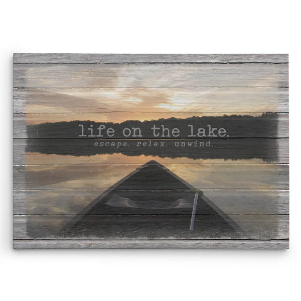 Life on the Lake Canvas Print