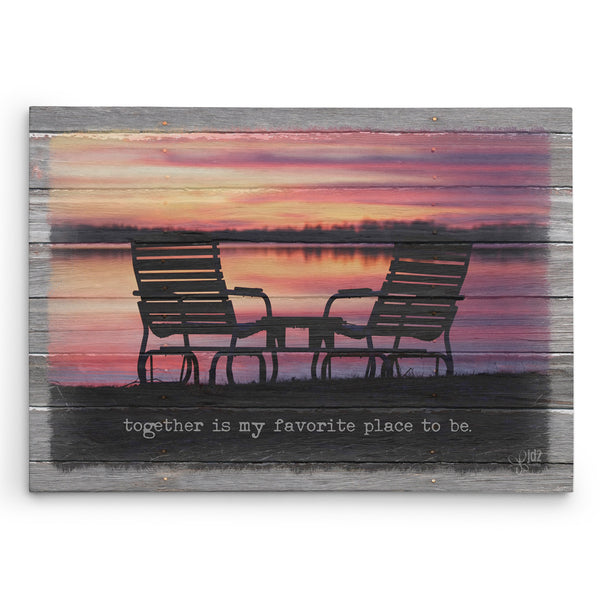 Together is My Favorite Place Canvas Print