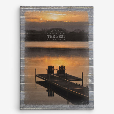 Grow Old Along With Me - The Best Is Yet To Be Canvas Print