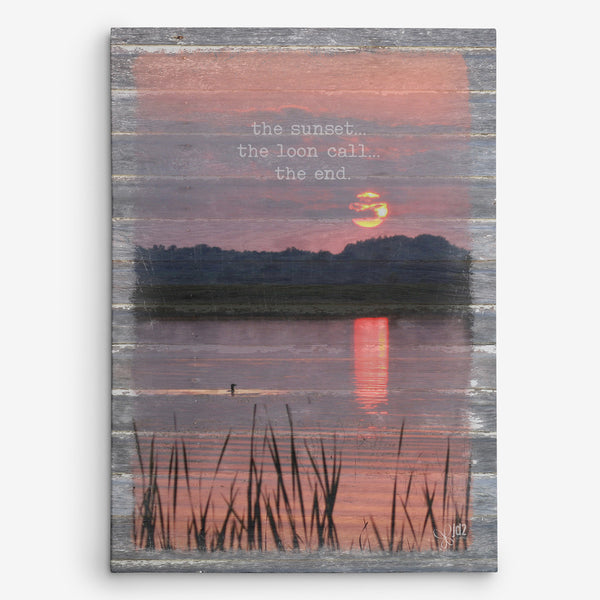 Loon Sunset Canvas Print