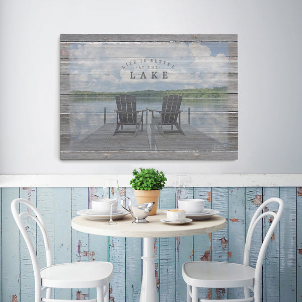 Life Is Better At The Lake - Canvas Print