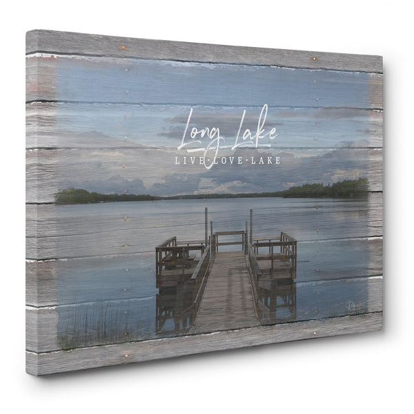 Live Love Lake Canvas Print with Lake Name