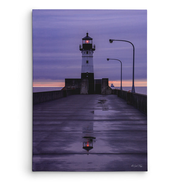 Lavender Lighthouse Canvas Print