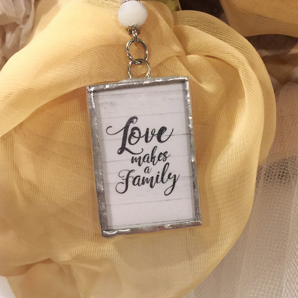 Love Makes a Family Monogram Necklace