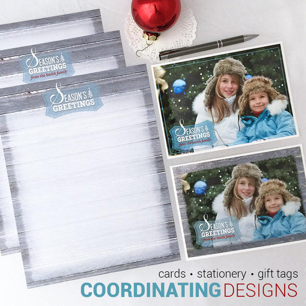 Season's Greetings Custom Holiday Printable Stationery