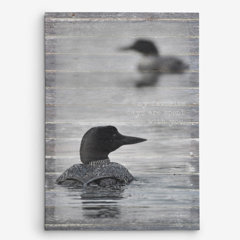 Favorite Days - Loon Pair Canvas print