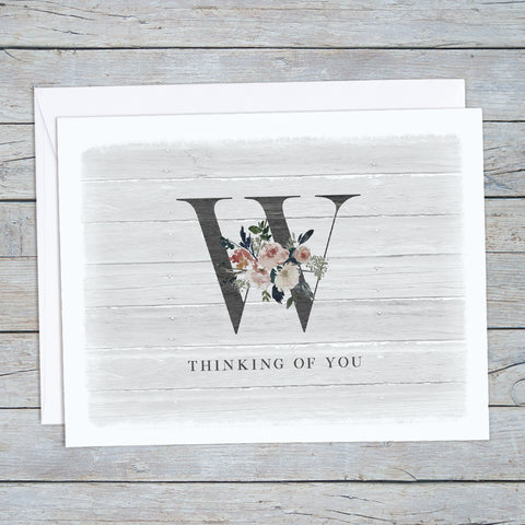 Monogram Thinking of You Note Card Set