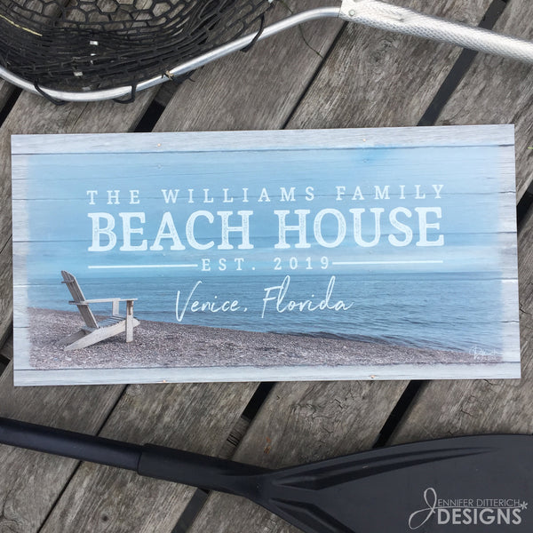 Outdoor Beach House Sign