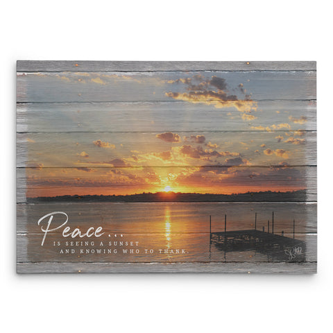 Peace Inspirational Canvas Print