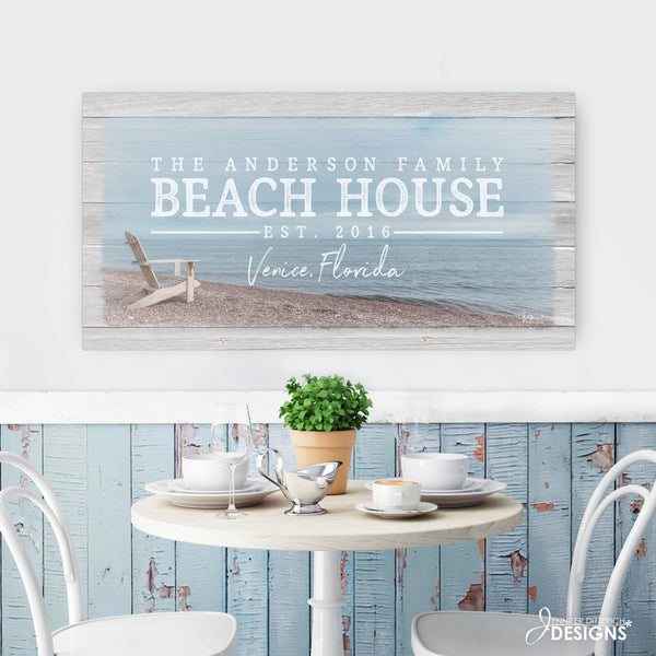 Personalized Beach House Sign