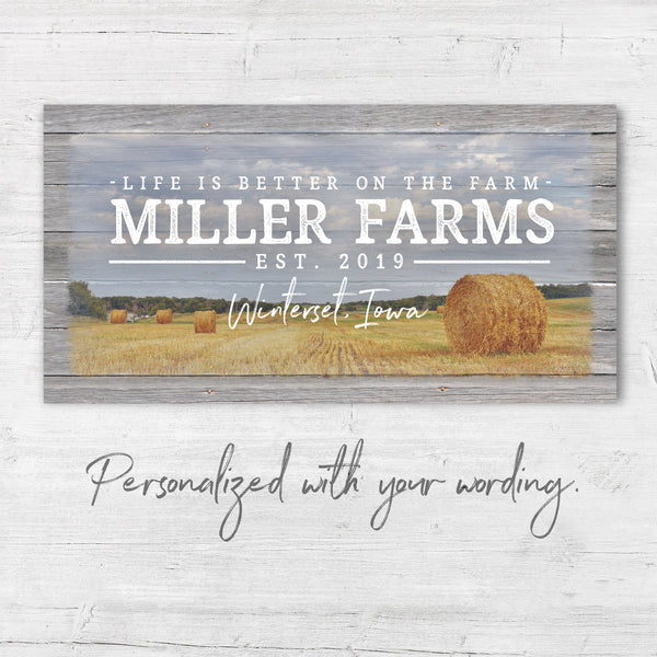 Personalized Farm Name Sign