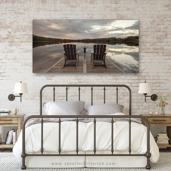 Relaxing at the Lake Canvas Print