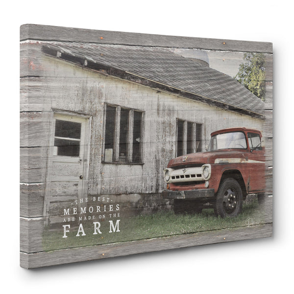 Canvas Print- The Best Memories Are Made On The Farm