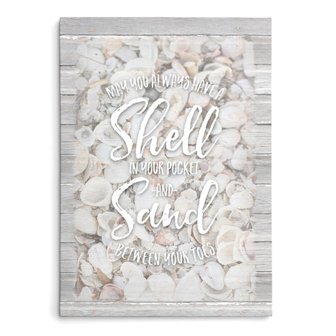 May You Always Have a Shell in Your Pocket - Seashell Print