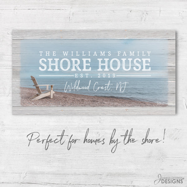 Custom Shore House Sign