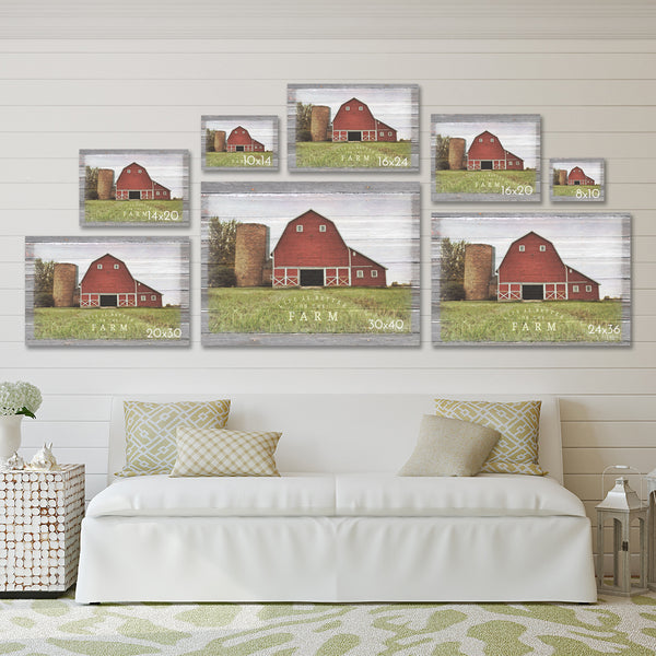 So God Made A Farmer Canvas Print - Harvested Field