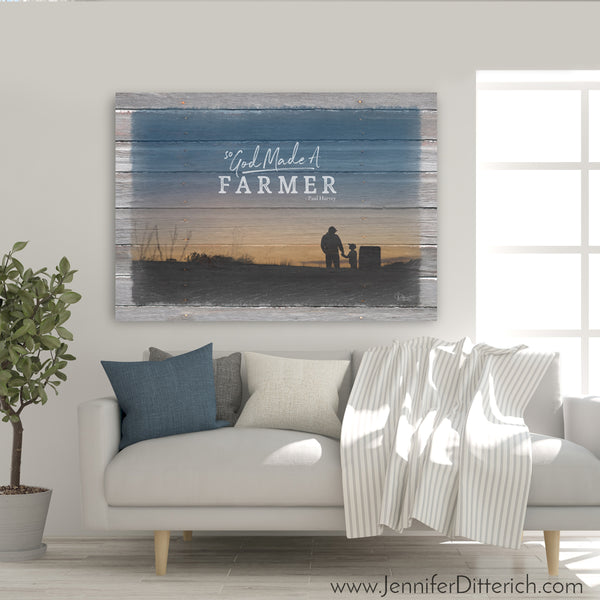 So God Made A Farmer Canvas Print