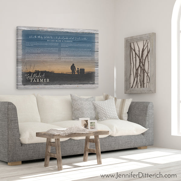 So God Made A Farmer Canvas Print - With Wording