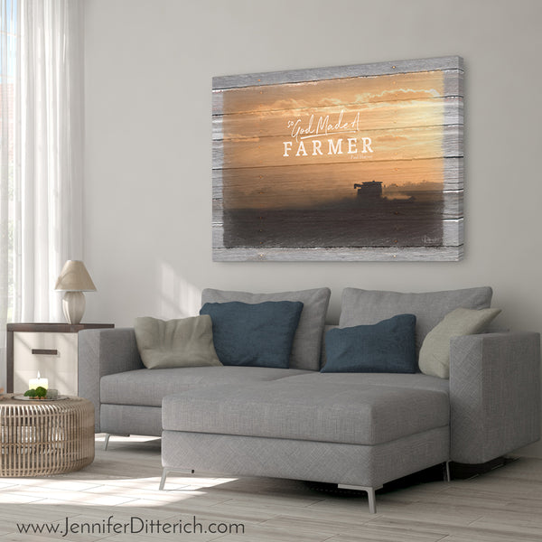 So God Made A Farmer Canvas Print - Harvest Sunset