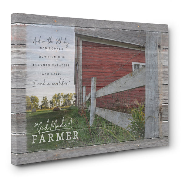 So God Made A Farmer Canvas Print - Caretaker Verse