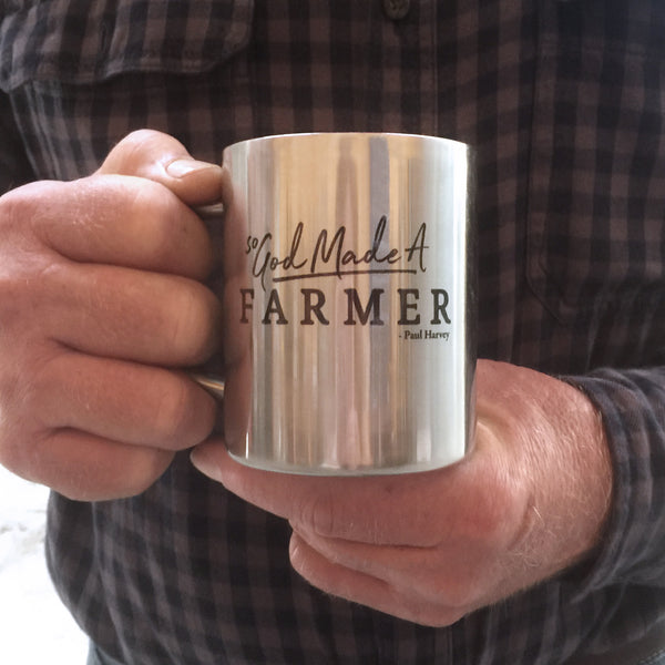 So God Made a Farmer Stainless Steel Mug