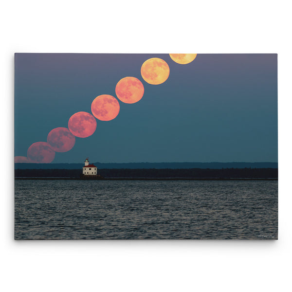 Strawberry Honey Moonrise Canvas Print