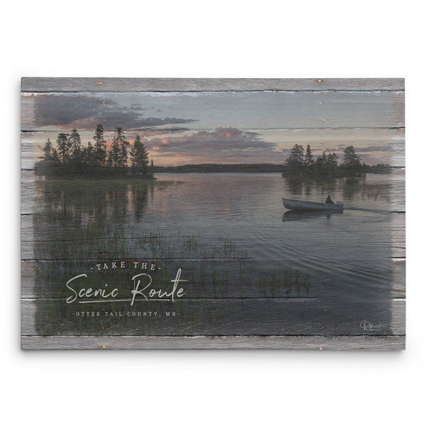 Take the Scenic Route Canvas Print