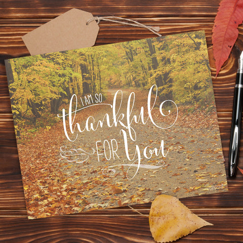 Thankful For You Thanksgiving Printable