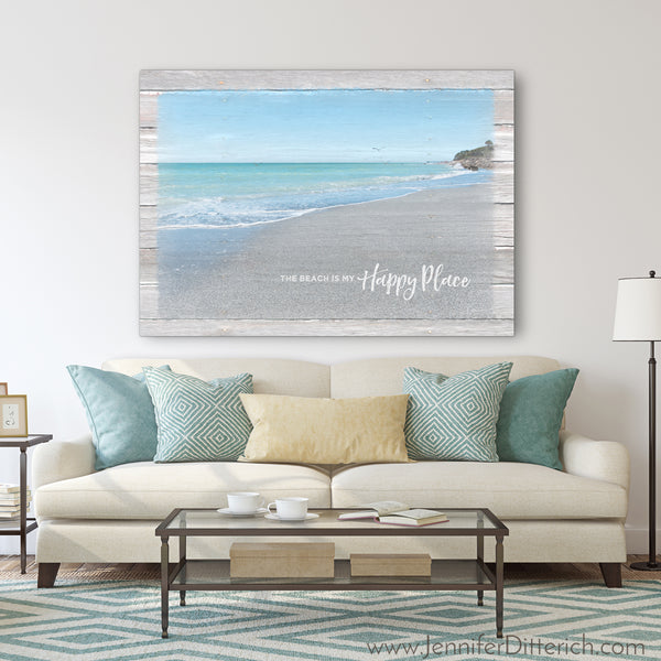 The Beach is My Happy Place - Beach Art