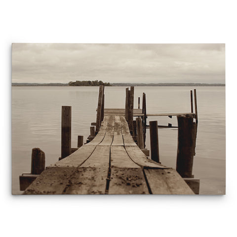 Weathered Dock Canvas Print