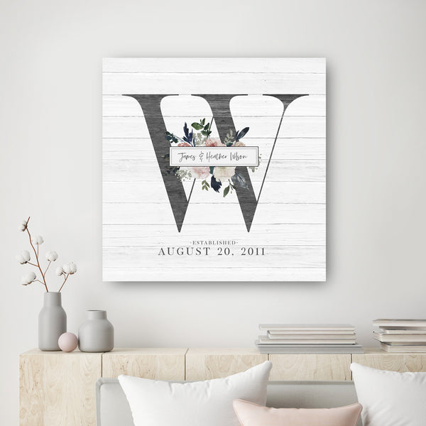 Wedding Monogram Print