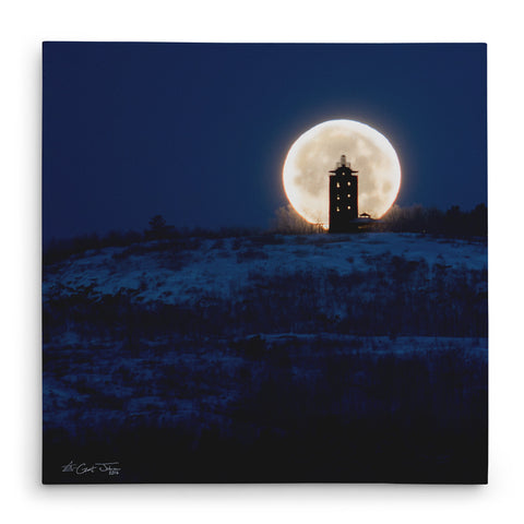 Wolf Moon Tower Canvas Print