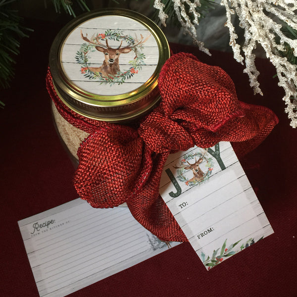 Woodland Christmas Printable Mason Jar Label Gift Set