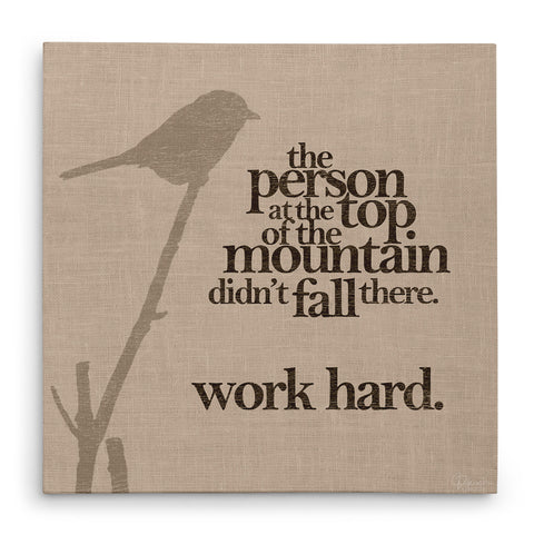 Work Hard - Canvas Print