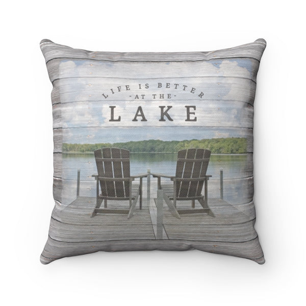 Life is Better at the Lake Pillow