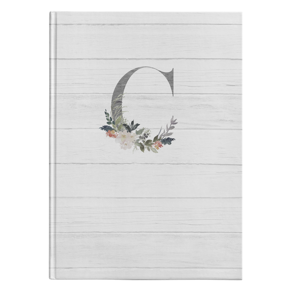 Monogram Hardcover Journal - C