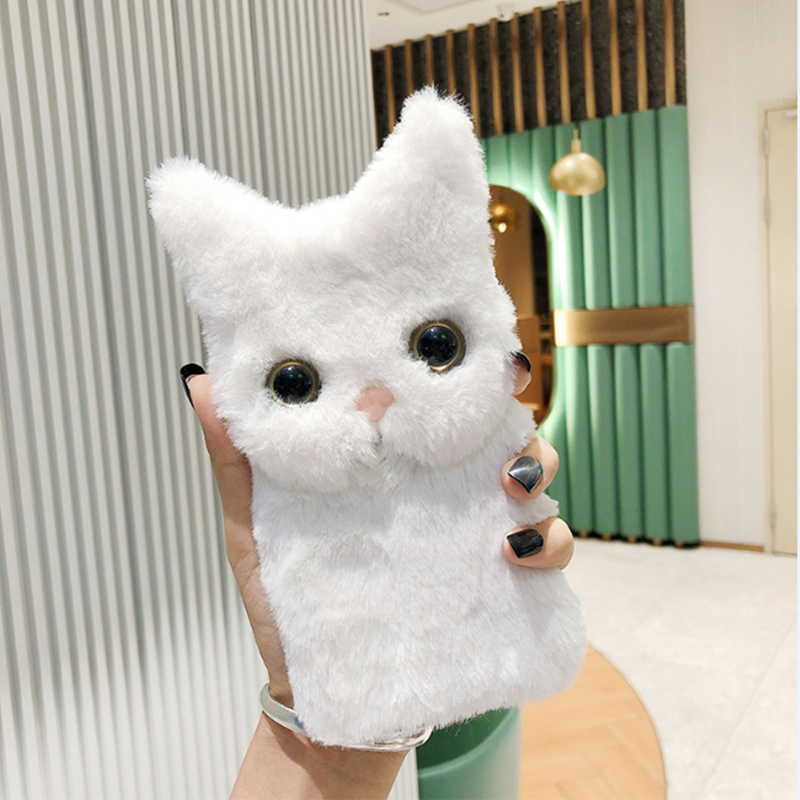 Fluffy Cat Face Case for iPhone 13 Pro Max