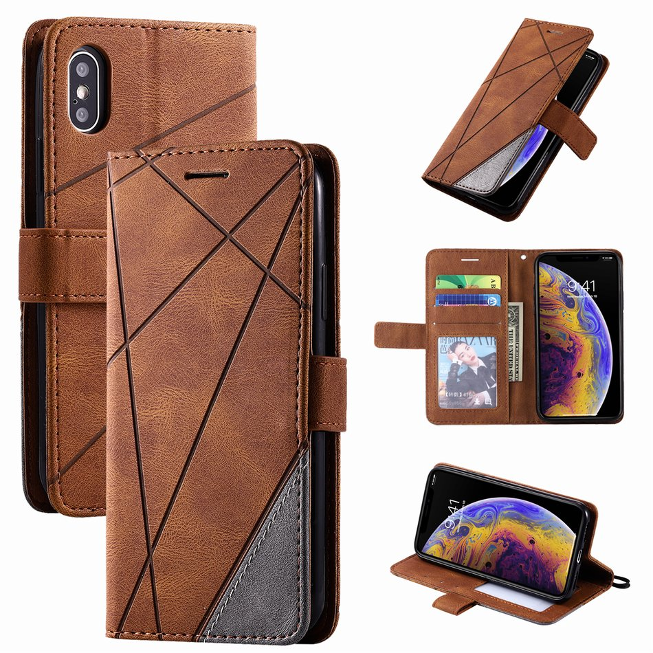 Business Leather Wallet Case for iPhone 13 mini