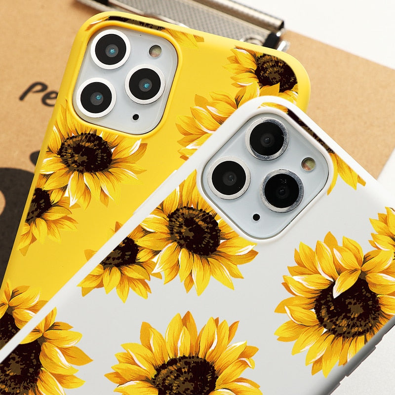 Sunflower Style Case for iPhone 13 mini