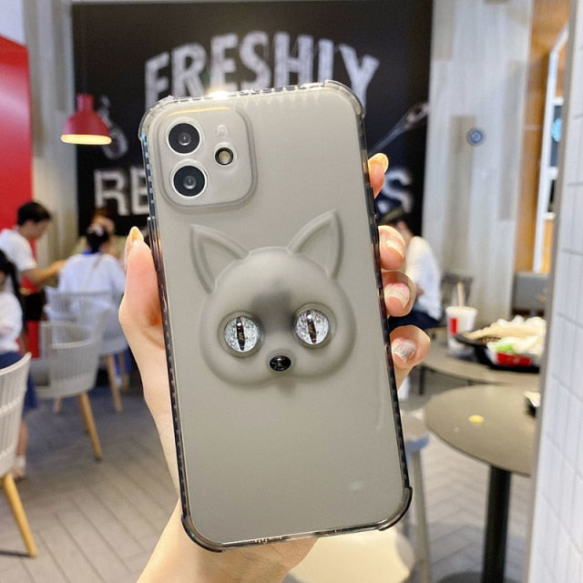 Glow-in-the-Dark Cat Eyes Case for iPhone 13 Pro Max