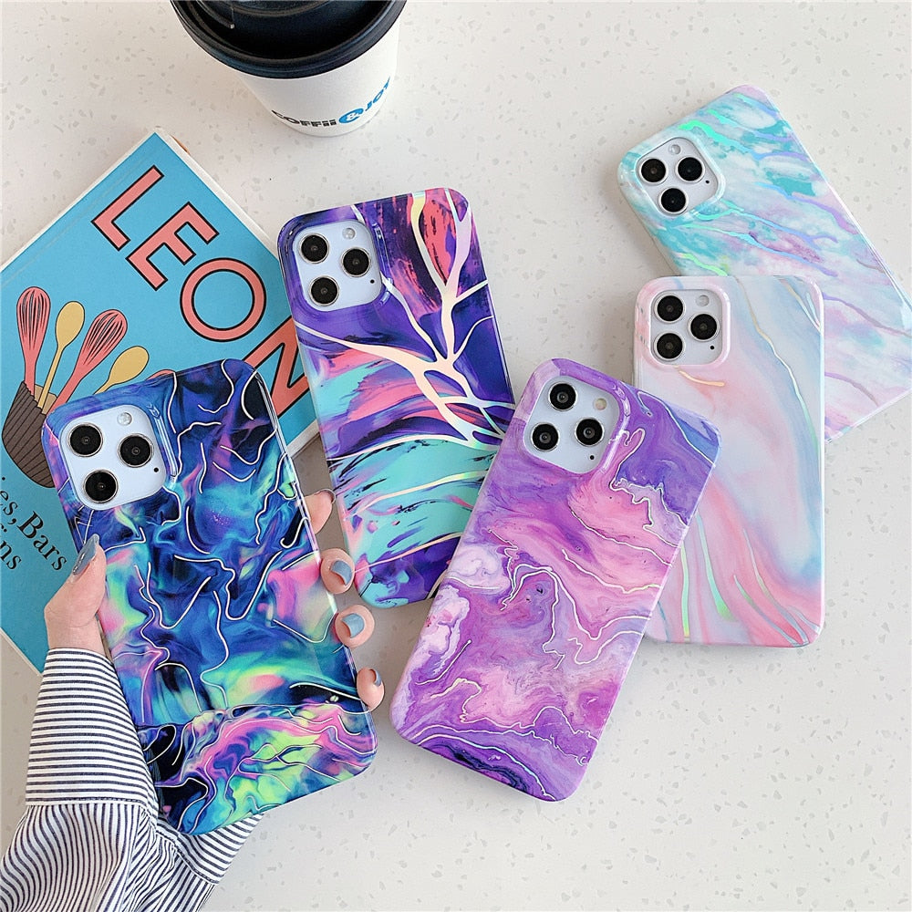 Colorful Marble Style Case for iPhone 13