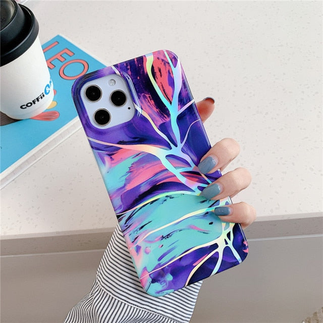 Colorful Marble Style Case for iPhone 13 Pro Max