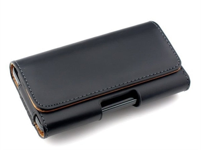 Leather Phone Pouch Case for iPhone 13 Pro Max