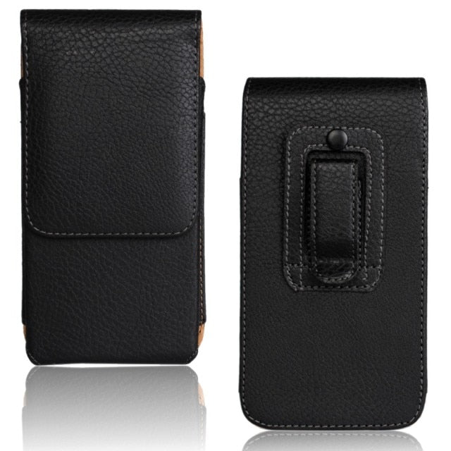 Leather Phone Pouch Case for iPhone 13 Pro
