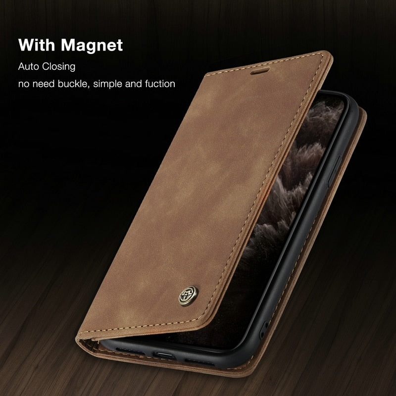 Luxury Leather Wallet Case for iPhone 13
