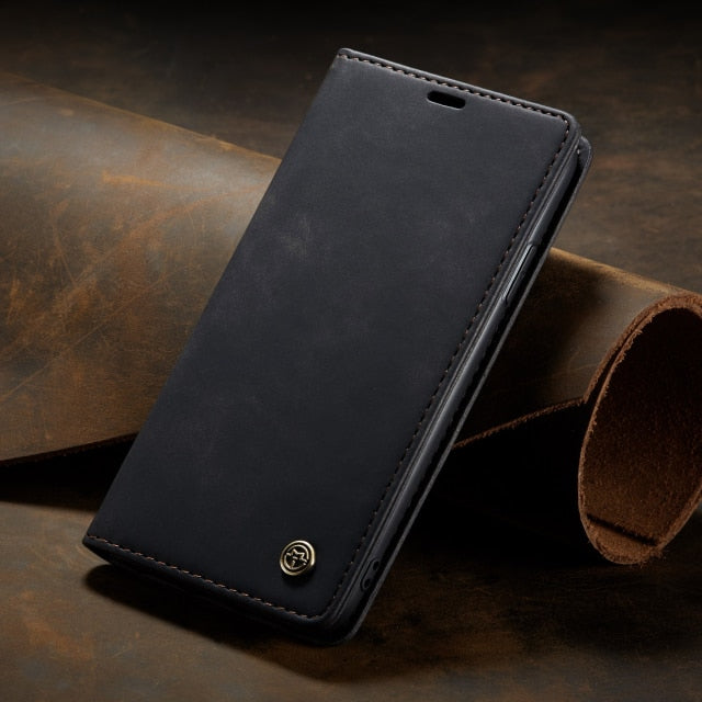 Luxury Leather Wallet Case for iPhone 13 Pro Max
