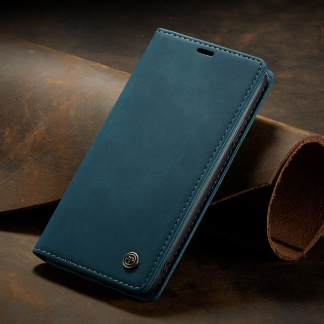 Luxury Leather Wallet Case for iPhone 13 Pro