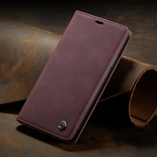 Luxury Leather Wallet Case for iPhone 13 mini