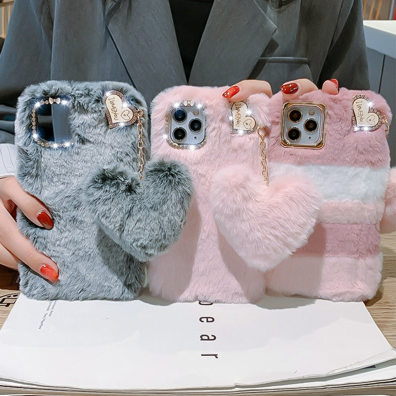 Warm Fur Case for iPhone 13